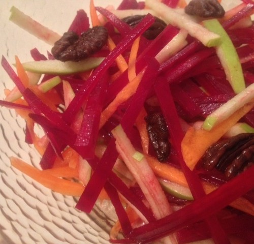 Raw Apple Beet Salad