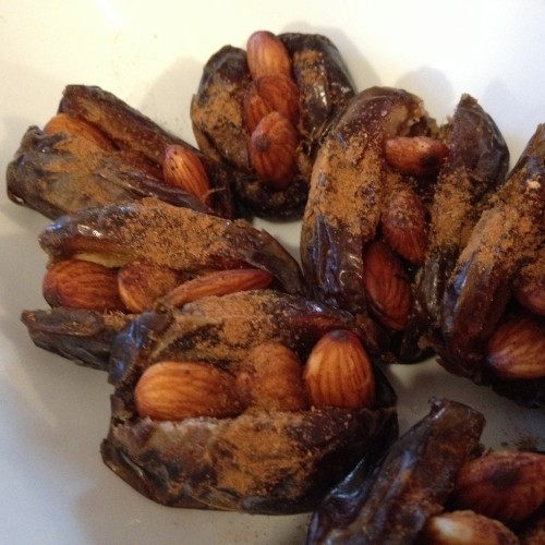 Toasted Almond  Stuffed Dates