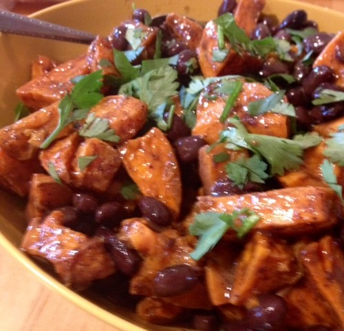 Spiced Sweet Potato and Black Bean Salad