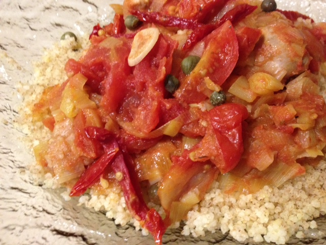 Three Tomato Chicken with Leeks and Vermouth