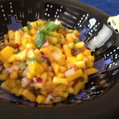 Nectarine Mango Salsa