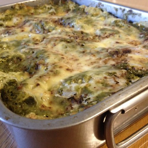 Spinach Pesto Lasagna