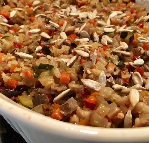 Brown Basmati Rice Vegetable Casserole