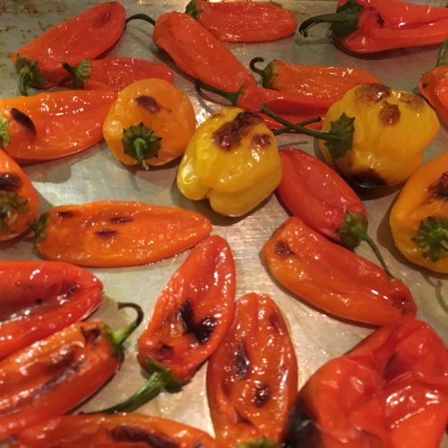 Roasted Baby Peppers