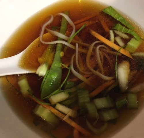 Ginger Garlic Greens Soup