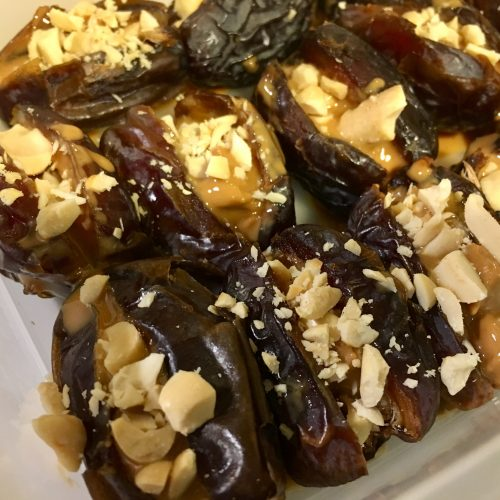 Frozen Dates Stuffed with Peanut Butter